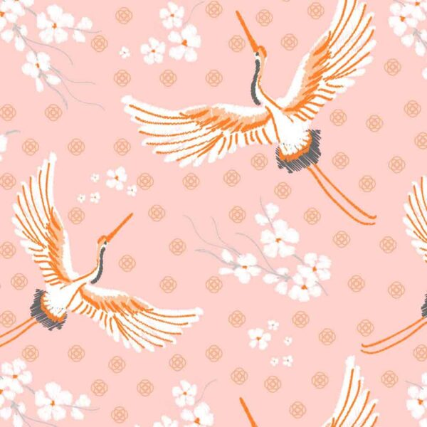 pink crane napkins