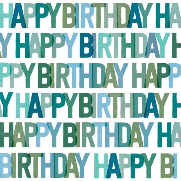 happy birthday blue napkins