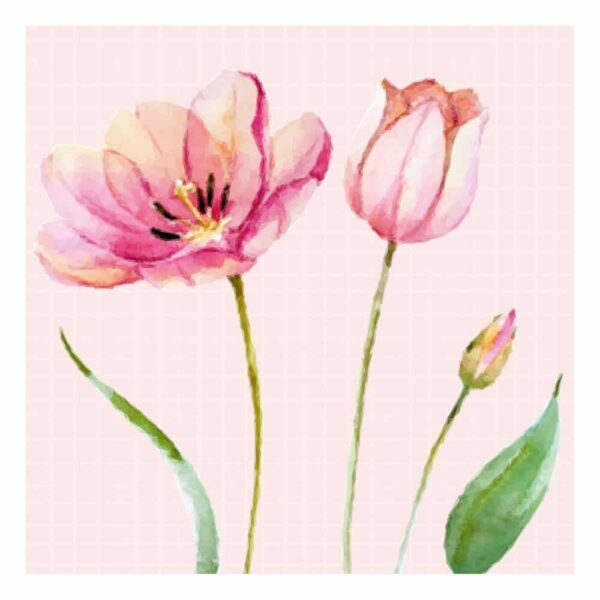 pink tulip napkins