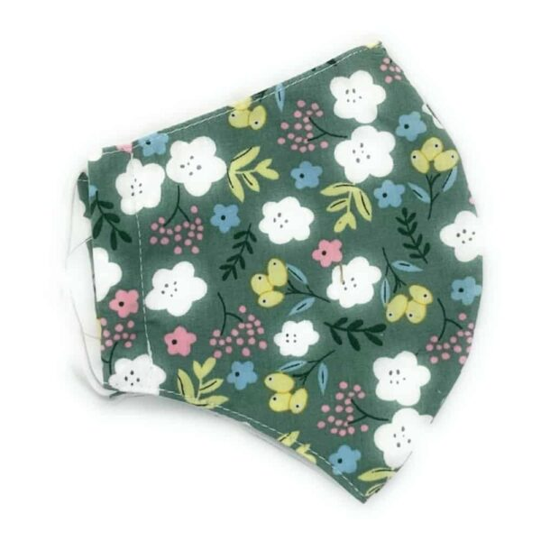 Mint Floral Face Covering