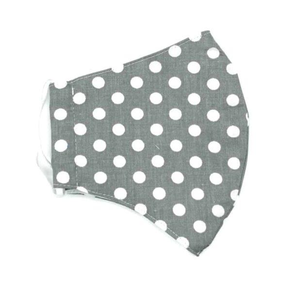 grey polka dot facemask