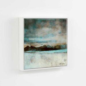 "Skye From Bealach Na Ba Applecross Wood Framed 6"" Ceramic Tile"