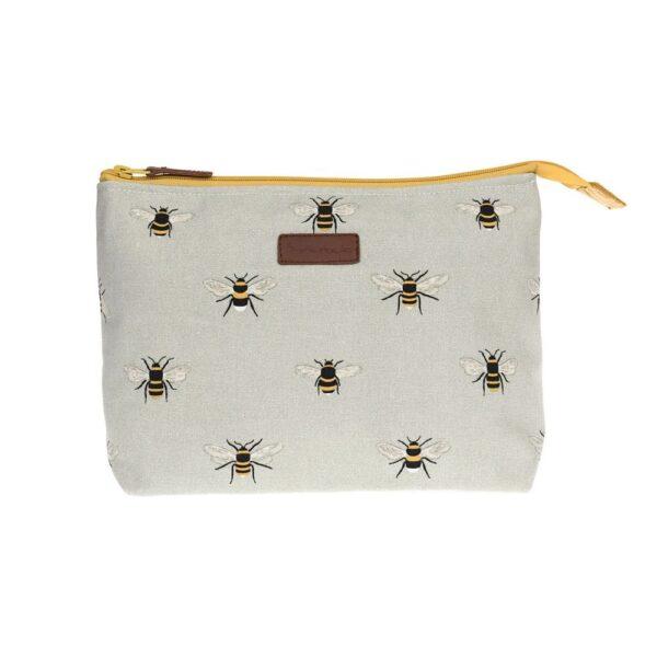 bees canvas wash bag