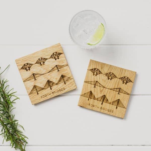 oak forth bridges coasters