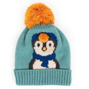 blue penguin hat