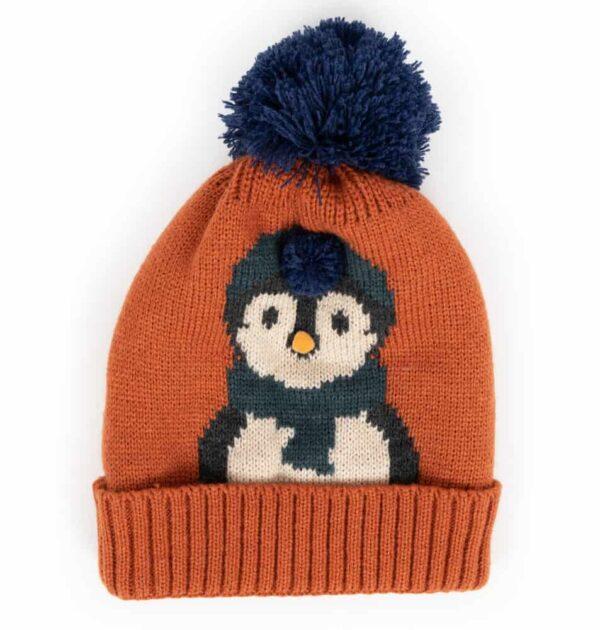 orange penguin hat