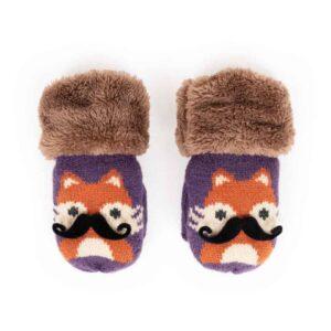 fox damson mittens