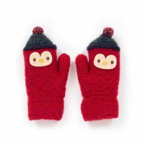 scarlet penguin mittens