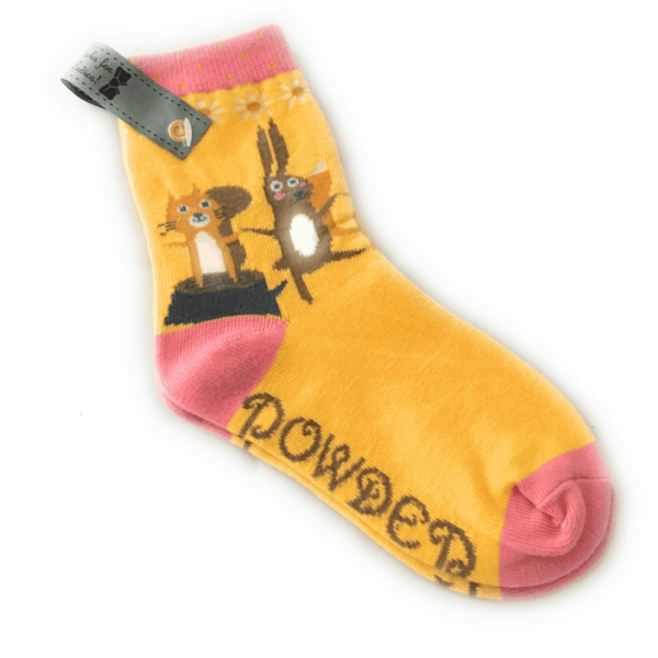 bunny and squirrel socks