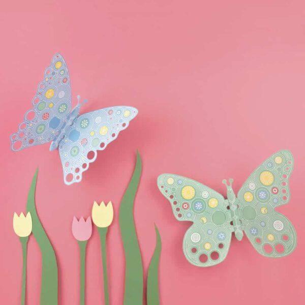 Fluttering Butterflies Made up