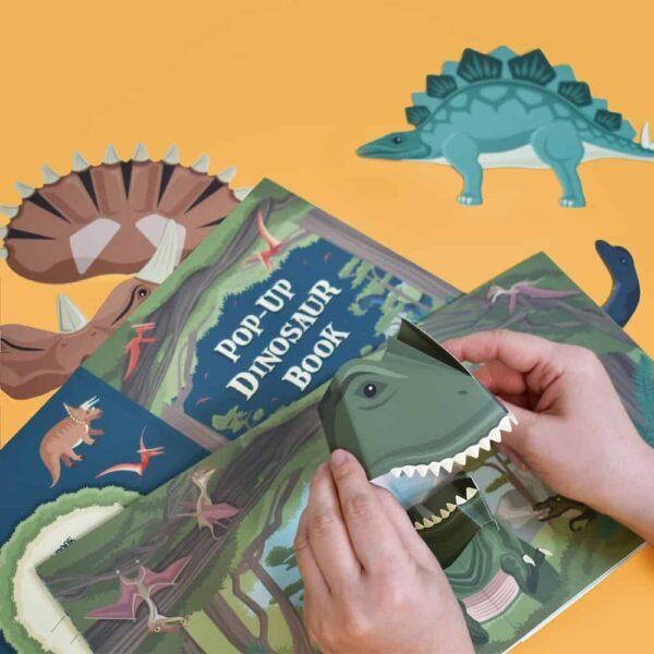 Pop-Up Dinosaur Book inside
