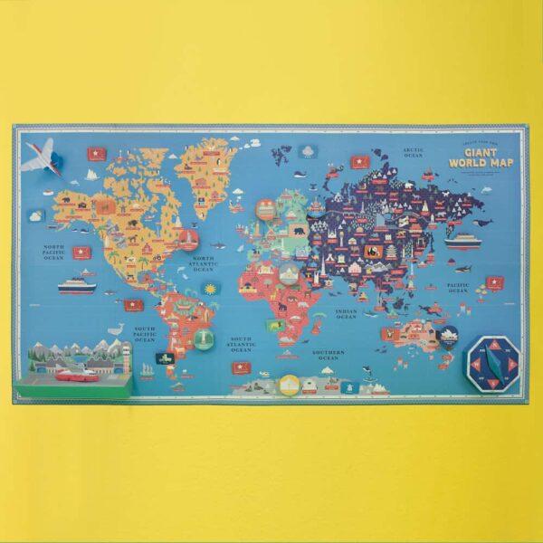 Giant World Map inside