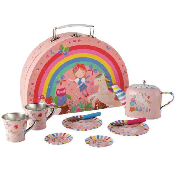 rainbow tea set
