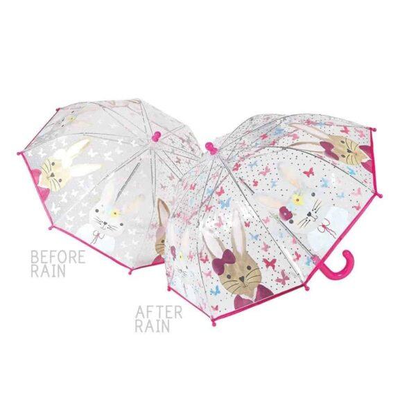 bunny colour changing umbrella