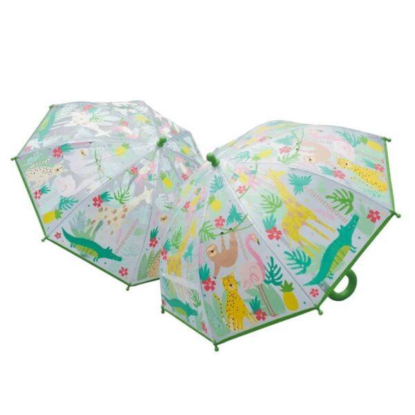 jungle colour changing umbrella