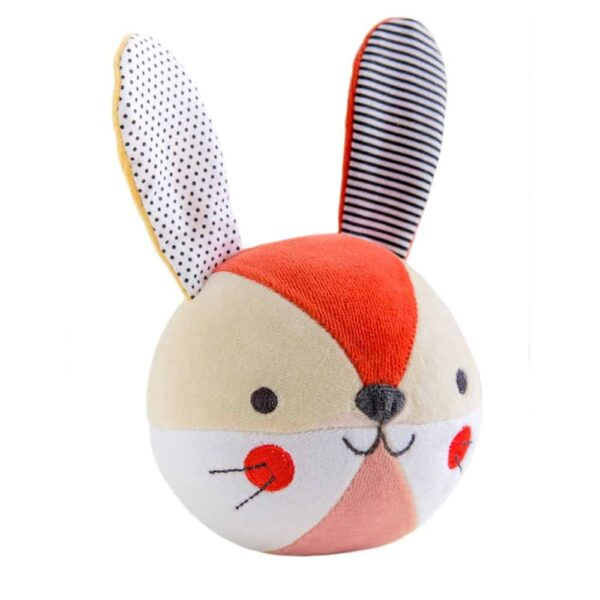 Organic Soft Ball Chiming Bunny