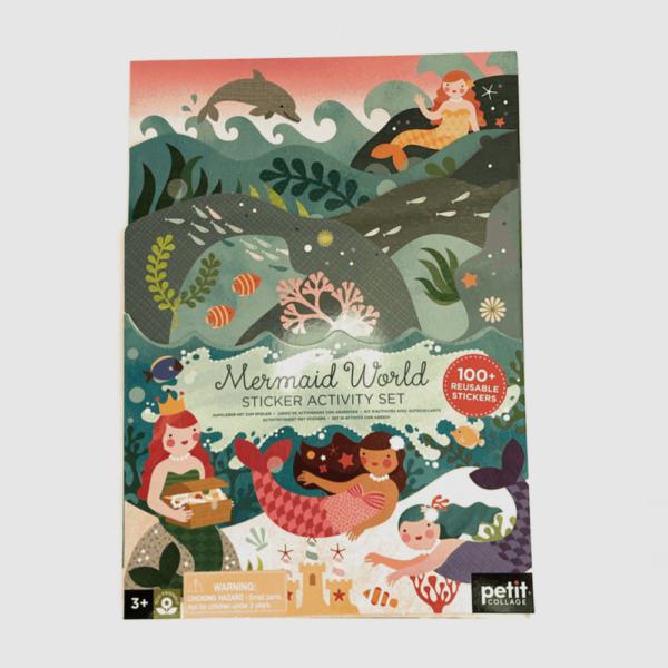 sticker mermaid book