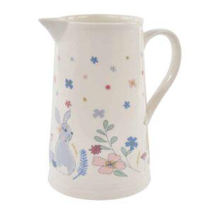 floral bunny jug
