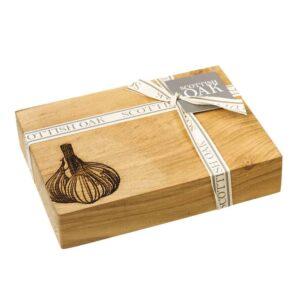 oak garlic chopping board