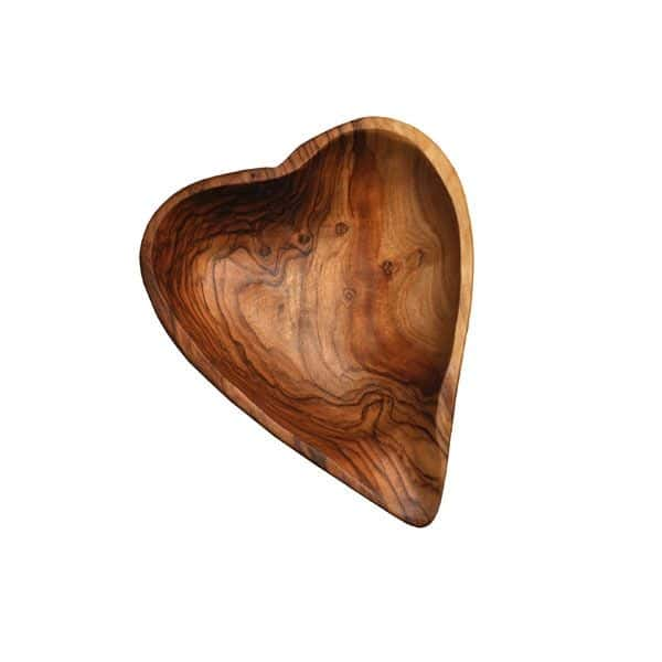 heart shaped olive dish