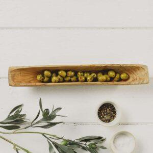olive wood olive dish