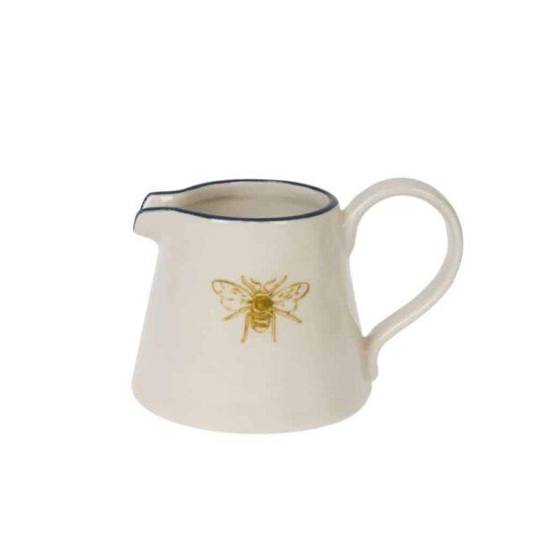 bees mini stoneware jug