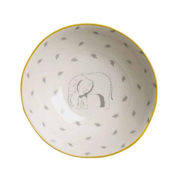 elephant stoneware bowl