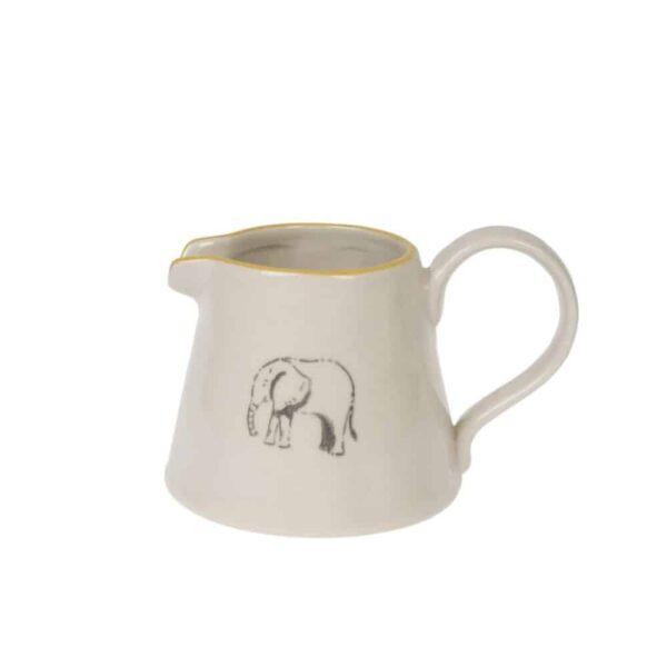 elephant mini stoneware jug