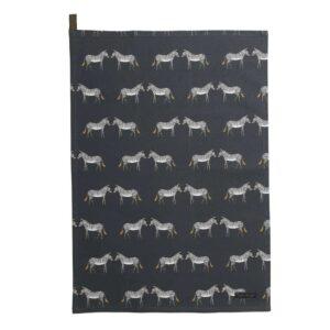 zebra tea towel