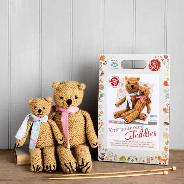 knit your own teddies - box