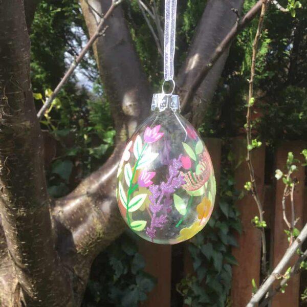 pastel flower bauble