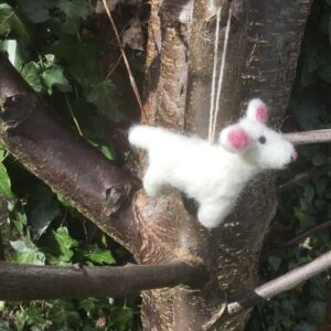 felt lamb hanging decoration