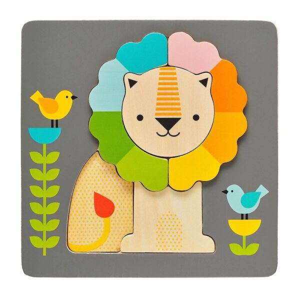Little Lion Chunky Wood Puzzle