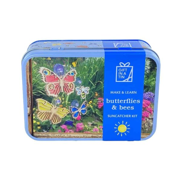 Butterflies And Bees Suncatchers In A Tin