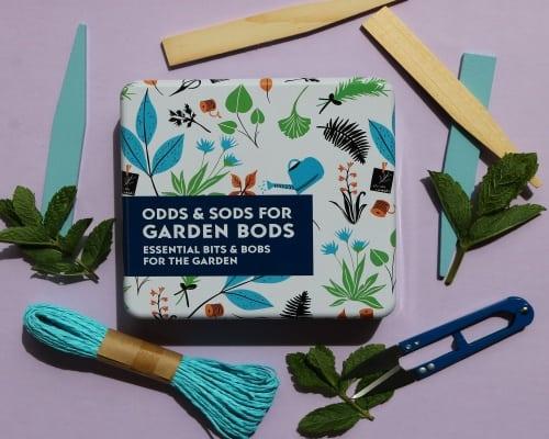gardeners odds & sods in a tin