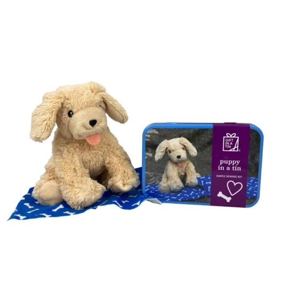 Puppy In A Tin Sewing Kit