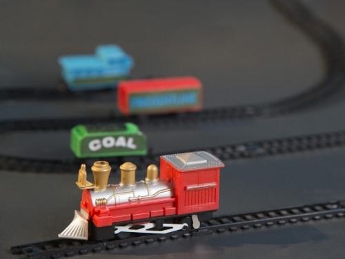 train set in a tin trains