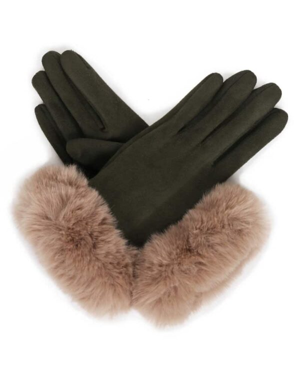 retina faux suede gloves