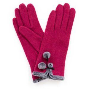betty fuchsia gloves