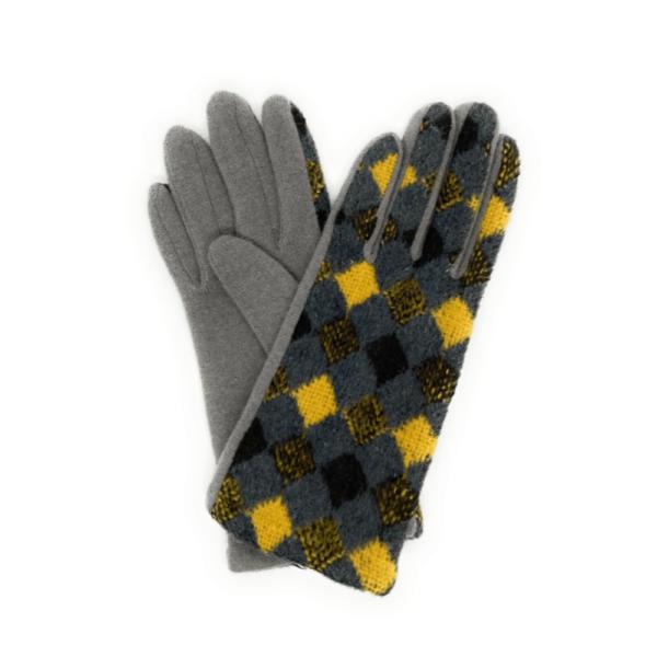 rhona wool gloves mustard