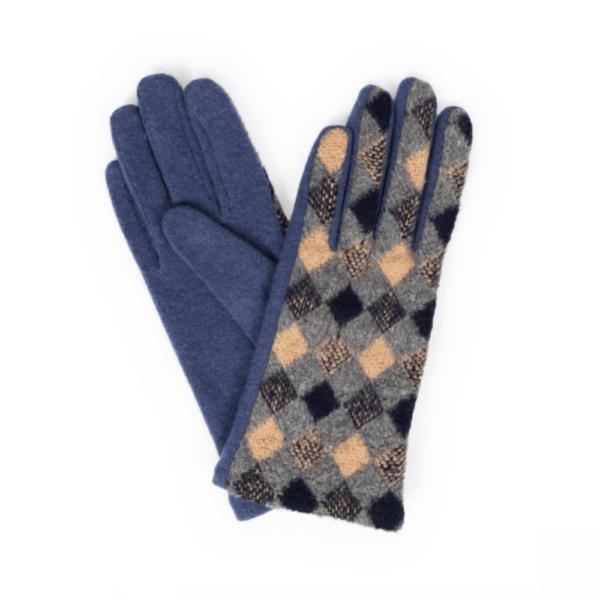 rhona navy gloves