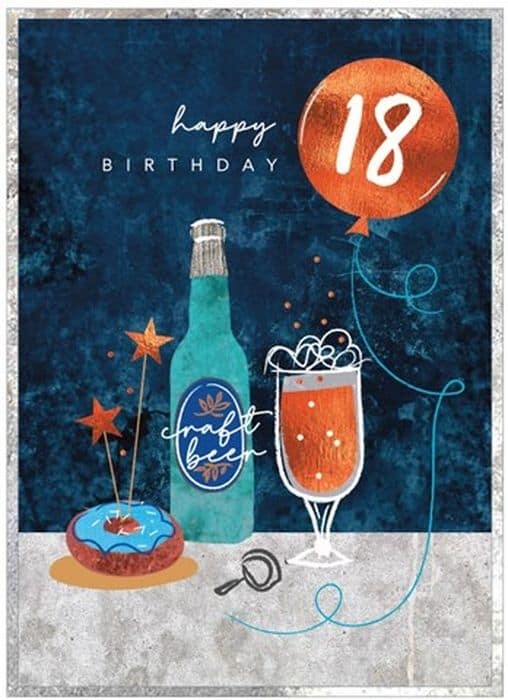 Craft Beer 18th Birthday Card