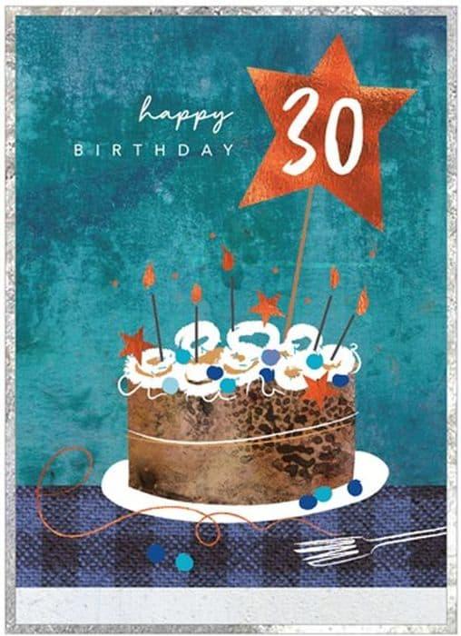 Happy Cake 30th Birthday Card