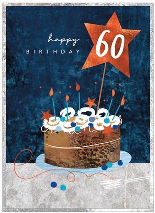 Happy 60th Cake Birthday Card