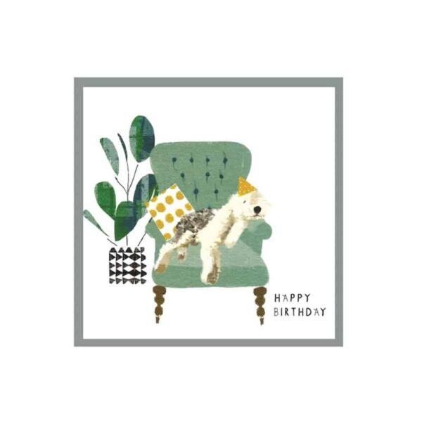 Happy Birthday Sleeping Sheep Dog Card