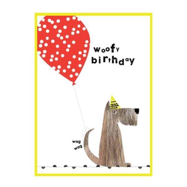 woofy birthday card
