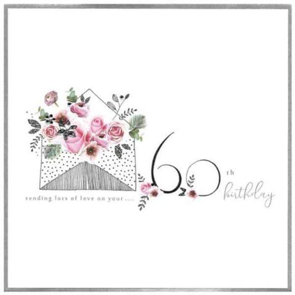 60th Lots Of Love Birthday Card