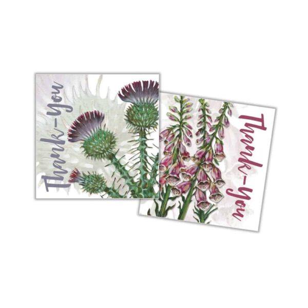 ten floral thank you cards