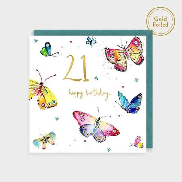 Butterfly 21st Birthday Card