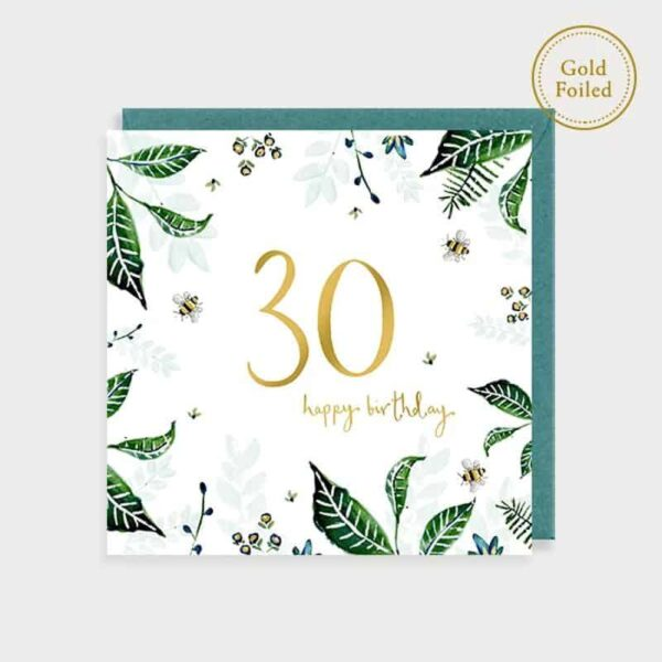 30 Happy Birthday Bee Floral Card